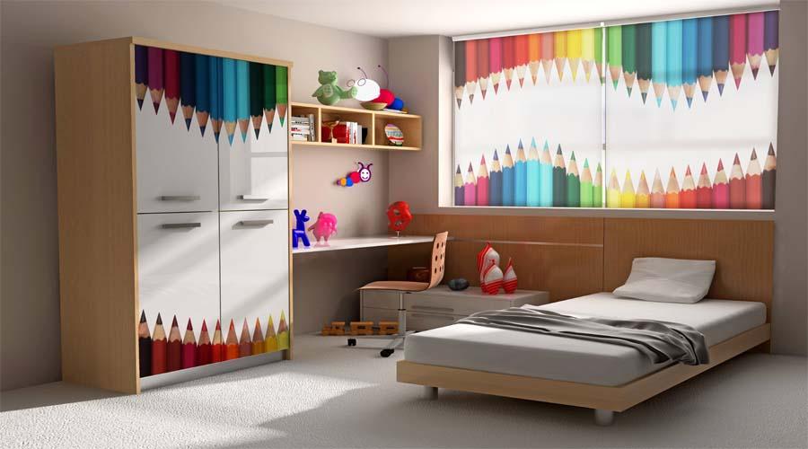 Cortinas de dormitorio juvenil cool cortinas de - Cortinas para habitacion juvenil ...